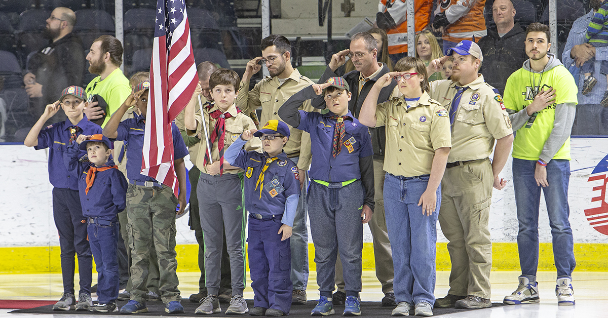Color Guard - Maine Mariners Hockey Experiences