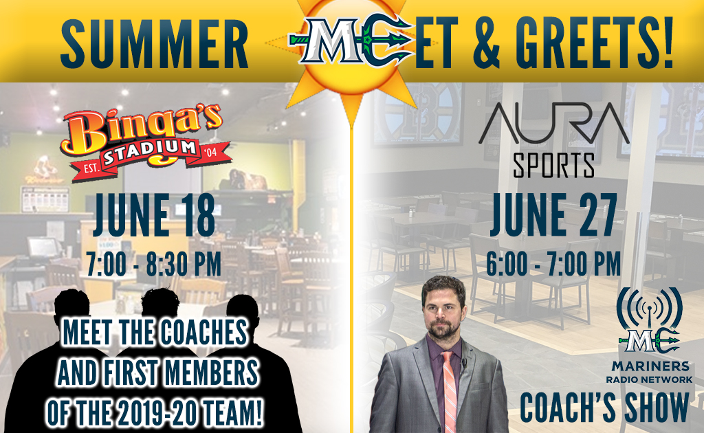 MARINERS TO HOLD SUMMER MEET & GREETS THIS MONTH - Maine Mariners
